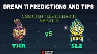 Dream11 Team Trinbago Knight Riders vs St Lucia Zouks Match 18 Caribbean Premier League 2019 – Cricket Prediction Tips For Today's T20 Match TKR vs SLZ at St Lucia