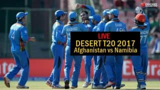 Live Cricket Score Afghanistan vs Namibia Desert T20 2017: Mohammad Shahzad goes for 31
