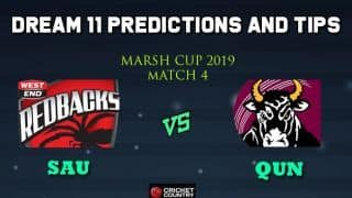 Dream11 Team South Australia Redbacks vs Queensland Bulls, Match 4 Marsh One-Day Cup 2019 Australian ODD – Cricket Prediction Tips For Today's Match SAU vs QUN at Brisbane