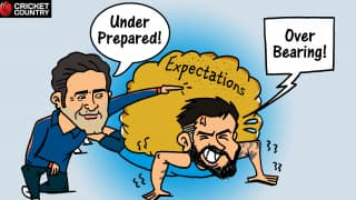 Cartoon: Kohli vs Kumble – overbearing vs underprepared