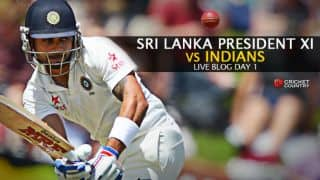 India 314/6 | India vs Sri Lanka President XI Live Cricket Score, India tour of Sri Lanka 2015: Rahane ton saves India