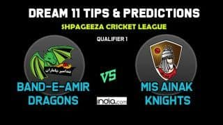 BD vs MAK Dream11 Team Band-e-Amir Dragons vs Mis Ainak Knights, Afghanistan T20 League Shpageeza  Cricket League (SCL) 2019 – Cricket Prediction Tips For Today's Match BD vs MAK at Alokozay