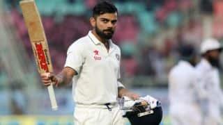 कोलकाता टेस्ट, पांचवां दिन: लकमल के सामने फिर से ढही टीम इंडिया, विराट कोहली का सहारा