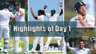 SL vs SA: Highlights of Day 1 of 1st Test