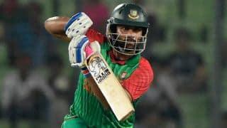 Tamim Iqbal dismissed for 5 in India vs Bangladesh 2015, 3rd ODI at Dhaka