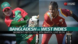 BAN W 99 in 18.3 Overs | Live Cricket Score, Bangladesh Women vs West Indies Women, Women's T20 World Cup 2016, BAN W vs WI W, Match 8 Group B at Chennai