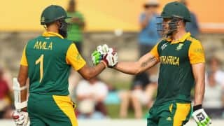 Twin centuries by Amla and du Plessis propelled South Africa to 411/4 against Ireland