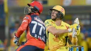 IPL 2018, Match 30: Shane Watson, MS Dhoni, Ambati Rayudu take CSK to 211 for 4 vs DD