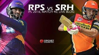 RPS 133/8, 20 Overs, Live Cricket Score Rising Pune Supergiants (RPS) vs Sunrisers Hyderabad (SRH), IPL 2016, Match 40 at Visakhapatnam: SRH win by 4-runs!