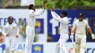 SL vs NZ: अकिला धनंजय के 5 विकेट हॉल से कीवी टीम ने पहले दिन बनाए 203/5