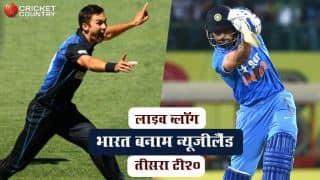 Live Cricket score in Hindi India vs New Zealand, 3rd T20I in Thiruvananthapuram