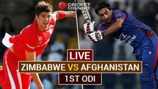 Live Cricket Score, Zimbabwe vs Afghanistan, 1st ODI at Harare: AFG win by 12 runs (D/L)
