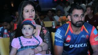 Mohammed Shami's wife Hasin Jahan meets Delhi Daredevils owners; asks them not to field Shami in IPL 2018