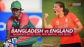 BAN W 117/6 | Overs 20 | Live Cricket Score, Bangladesh Women vs England Women, Women's T20 World Cup 2016, BAN W vs ENG W, Match 4 Group B at Bangalore: ENG W win by 36 runs