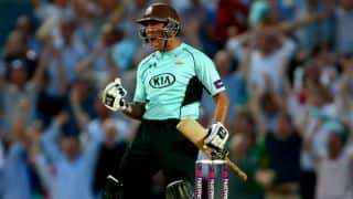Azhar Mahmood's last-ball six against Gloucestershire: Video