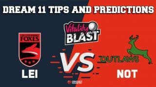 Dream11 Team Leicestershire vs Nottinghamshire North Group VITALITY T20 BLAST ENGLISH T20 BLAST – Cricket Prediction Tips For Today's T20 Match LEI vs NOT at Worcester