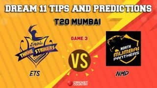 Dream11 Prediction: ETS vs NMP Team Best Players to Pick for Today's Match between Eagle Thane Strikers and North Mumbai Panthers in T20 Mumbai in Wankede at 3:30 PM