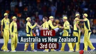 Live Cricket Score, AUS vs NZ 3rd ODI: