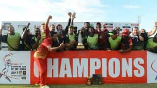 Sikandar Raza, Hamilton Masakadza star as Zimbabwe win first ODI series in Sri Lanka