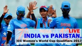 Live Cricket Score, IND vs PAK, ICC Women World Cup Qualifier 2017, Super Six:  IND W win by 7 wickets