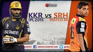 Live Cricket Score Kolkata Knight Riders vs Sunrisers Hyderabad, IPL 2015, Match 38 in Kolkata, SRH 132/9 in 20 overs: SRH lose by 35 runs
