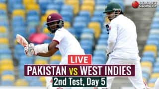 Live Cricket Score, Pakistan vs West Indies, 2nd Test, Day 5: WI win by 106 runs