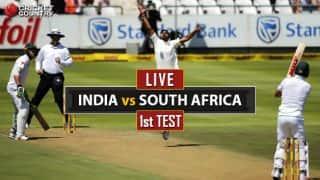 भारत बनाम दक्षिण अफ्रीका, पहला टेस्ट, चौथा दिन: भारत का दूसरा विकेट गिरा, मुरली विजय आउट