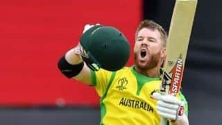 Cricket World Cup 2019: David Warner relieved to get to a hundred