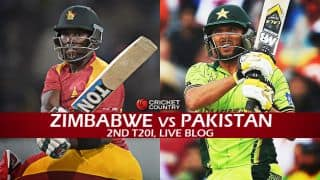 ZIM 121/7 | Live Cricket Score, Zimbabwe vs Pakistan 2015, 2nd T20I at Harare: Pakistan take series 2-0