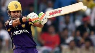 Robin Uthappa, Gautam Gambhir start run-chase against Kings XI Punjab confidently