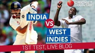 IND 302/4 | India (IND) vs West Indies (WI) 2016 Live Cricket Score, 1st Test at Antigua, Day 1: Get updates on live score and ball-by-ball commentary for India's tour of West Indies: Stumps