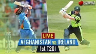 Live Cricket Score, Afghanistan vs Ireland, 1st T20I at Greater Noida: AFG win by 6 wickets