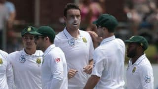 South Africa implode early; Sri Lanka lose quick wickets as they trail hosts by 249 at lunch on Day 2