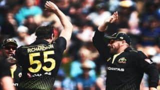 खराब बल्लेबाजी फॉर्म से प्रभावित नहीं हो रही है एरोन फिंच की कप्तानी: रिचर्डसन
