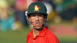 Sean Williams dismissed as Zimbabwe lose their fourth wicket