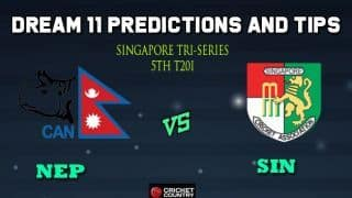 NEP vs SIN Dream11 Team Nepal vs Singapore, 5th T20I, Singapore Twenty20 Tri-Series 2019 – Cricket Prediction Tips For Today's Match NEP vs SIN at Singapore