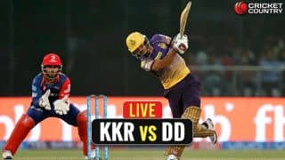 Live IPL 2017 Score, Kolkata Knight Riders (KKR) vs Delhi Daredevils (DD), IPL 10, Match 32: KKR win by 7 wickets