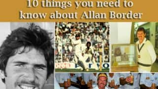 10 things you need to know about Allan Border