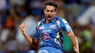 MI vs RR Match 32 IPL 2015: Dhawal Kulkarni dismisses Parthiv Patel for 23