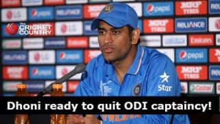 MS Dhoni: Ready to step down as captain for India's welfare