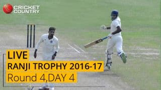 LIVE Cricket Score Ranji Trophy 2016-17, Day 4, Round 4
