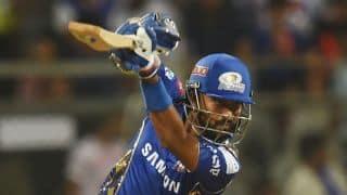 Mumbai new buys, Pandya brothers take them to 165 for 4; Bravo shines
