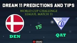 DEN vs QAT Dream11 Team Denmark vs Qatar, Match 11, World Cup Challenge League – Cricket Prediction Tips For Today's Match DEN vs QAT at Kuala Lumpur