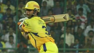 Chennai Super Kings lose Suresh Raina but Dwayne Smith going strong against Rajasthan Royals in IPL 2014