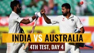 Live Cricket Score, Ind vs Aus 2016-17, 4th Test, Day 4: India eye series win