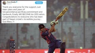 Nepal attains ODI status, Paras Khadka tweets on incredible journey, Twitter goes berserk