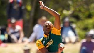 Vernon Philander bowls Sikandar Raza for 5 in South Africa vs Zimbabwe match