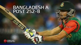 Nasir Hossain ton props Bangladesh A to 252 for 8 against India A in 2nd one-dayer