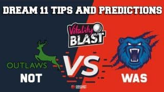 Dream11 Team Nottinghamshire vs Warwickshire North Group VITALITY T20 BLAST ENGLISH T20 BLAST – Cricket Prediction Tips For Today's T20 Match NOT vs WAS at Edgbaston, Birmingham