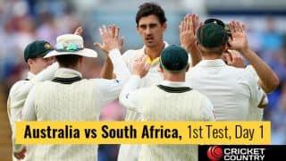 LIVE Cricket Score, Australia vs South Africa, 1st Test, Day 1 at Perth: STUMPS